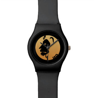 Muestra del zodiaco de Leo Reloj