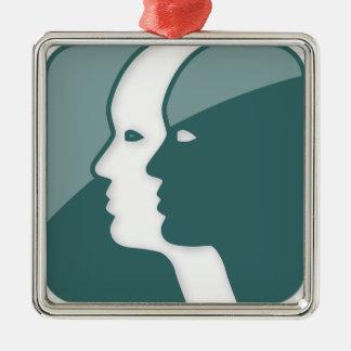 Muestra del zodiaco de los géminis adornos
