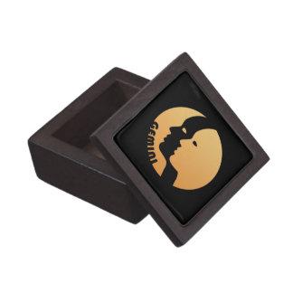 Muestra del zodiaco de los géminis caja de joyas de calidad