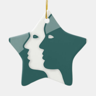 Muestra del zodiaco de los géminis ornamentos de navidad