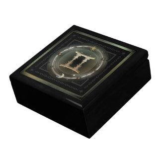 Muestra del zodiaco de los géminis cajas de joyas