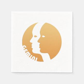 Muestra del zodiaco de los géminis servilletas de papel