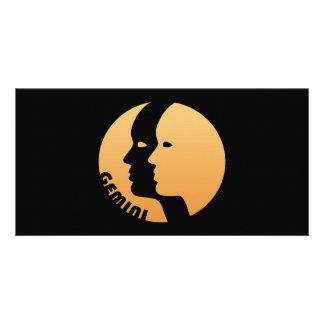 Muestra del zodiaco de los géminis tarjeta personal