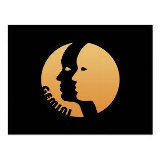 Muestra del zodiaco de los géminis tarjeta postal