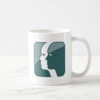 Muestra del zodiaco de los géminis taza de café