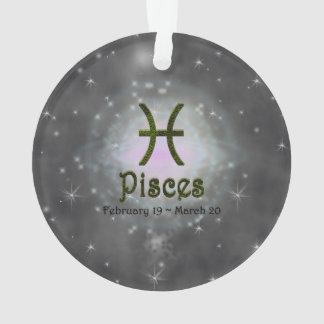 Muestra del zodiaco de Piscis del color de la