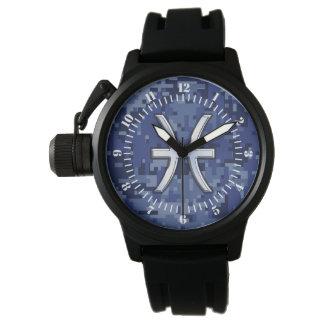 Muestra del zodiaco de Piscis en el dial de Relojes