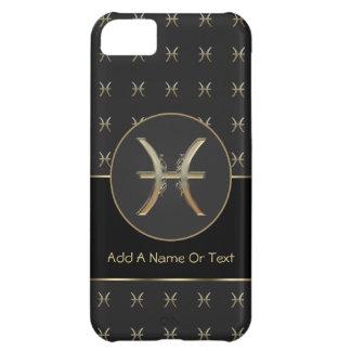 Muestra del zodiaco de Piscis personalizada Funda Para iPhone 5C