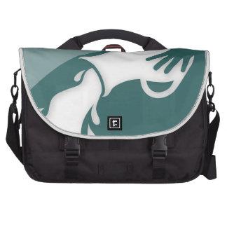 Muestra del zodiaco del acuario bolsas para portatil