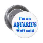 Muestra del zodiaco del acuario pin