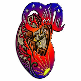Muestra del zodiaco del aries esculturas fotográficas