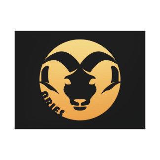 Muestra del zodiaco del aries lona estirada galerías