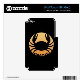 Muestra del zodiaco del cáncer calcomanías para iPod touch 4G