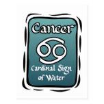 Muestra del zodiaco del cáncer postal