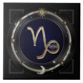 Muestra del zodiaco del Capricornio Azulejo Cuadrado Grande