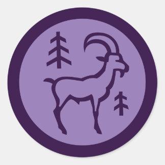 Muestra del zodiaco del Capricornio Pegatina Redonda