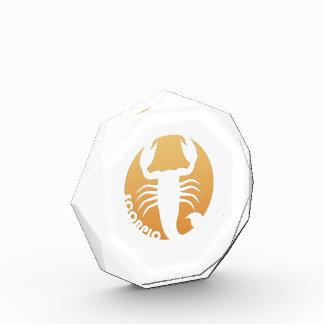 Muestra del zodiaco del escorpión