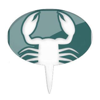 Muestra del zodiaco del escorpión decoración para tarta