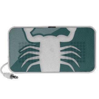 Muestra del zodiaco del escorpión mini altavoz