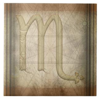 Muestra del zodiaco del escorpión azulejo cuadrado grande