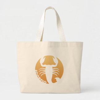Muestra del zodiaco del escorpión bolsa tela grande