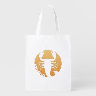 Muestra del zodiaco del escorpión bolsas de la compra