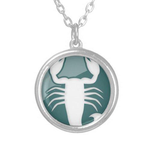 Muestra del zodiaco del escorpión collares personalizados