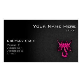 Muestra del zodiaco del escorpión del escorpión de tarjeta de visita