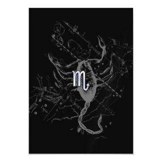 Muestra del zodiaco del escorpión del estilo del invitaciones magnéticas