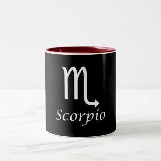 Muestra del zodiaco del escorpión del `' taza de café de dos colores