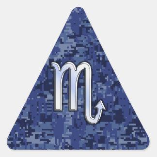 Muestra del zodiaco del escorpión en la decoración pegatina triangular