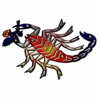 Muestra del zodiaco del escorpión esculturas fotográficas