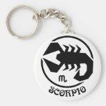Muestra del zodiaco del escorpión llaveros personalizados