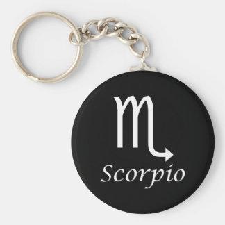 """Muestra del zodiaco del """"escorpión"""" llavero redondo tipo pin"""