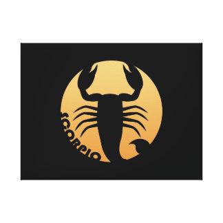 Muestra del zodiaco del escorpión lona estirada galerias
