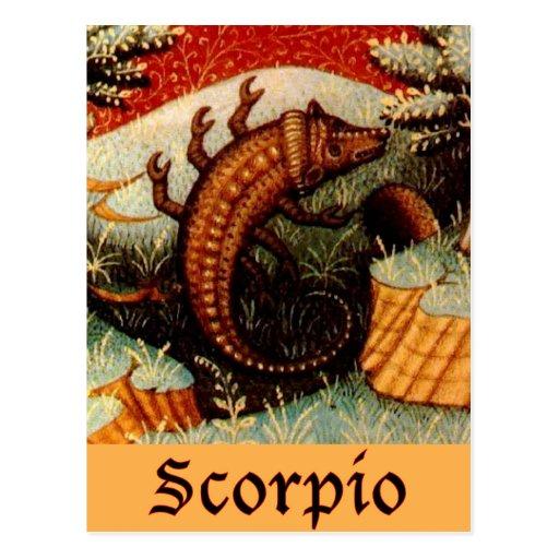 Muestra del zodiaco del escorpión postal