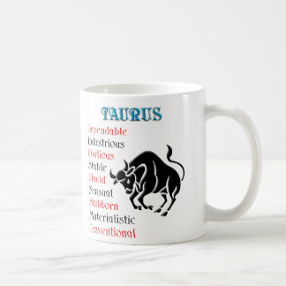 Muestra del zodiaco del horóscopo del tauro taza clásica