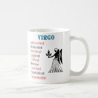 Muestra del zodiaco del horóscopo del virgo tazas