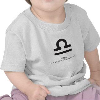 Muestra del zodiaco del libra camisetas