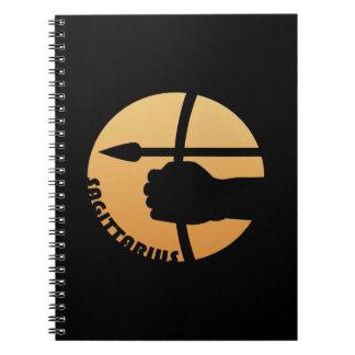 Muestra del zodiaco del sagitario cuaderno