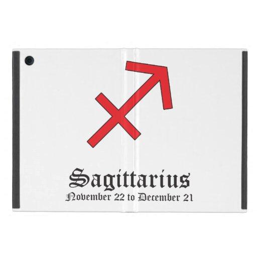Muestra del zodiaco del sagitario iPad mini protectores