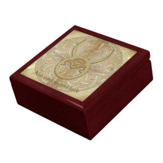 Muestra del zodiaco del tauro caja de joyas