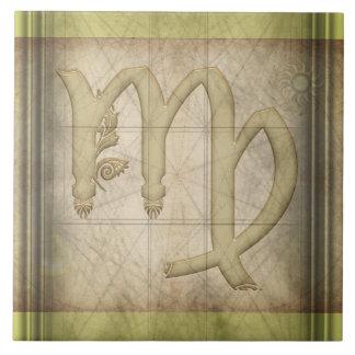 Muestra del zodiaco del virgo azulejo cuadrado grande
