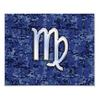 Muestra del zodiaco del virgo en los azules fotografías