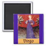Muestra del zodiaco del virgo imán cuadrado