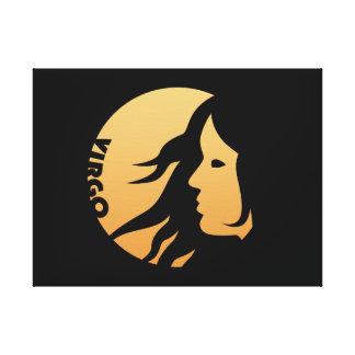 Muestra del zodiaco del virgo lienzo envuelto para galerías