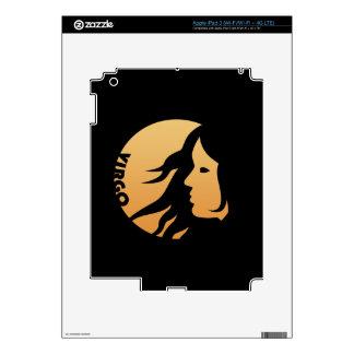 Muestra del zodiaco del virgo pegatina skin para iPad 3
