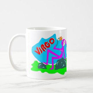Muestra del zodiaco del virgo taza de café