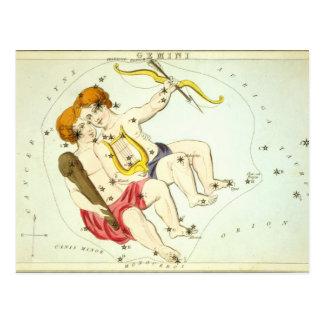 Muestra del zodiaco: Géminis Tarjeta Postal