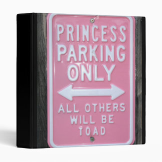 Muestra divertida de princesa Parking Only